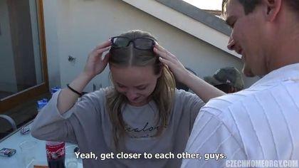 Молодежная вечеринка и безбашенный групповой секс закончился оргазмом для всех #6