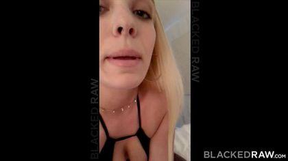 Негр дает ночью большой член в ротик белой девки в черном белье #3