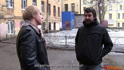 Бородатый муж увидел, как жене в ротик блондин накончал много спермы #1