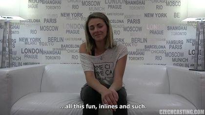 Актриса на кастинге согласна снять джинсы и получить пенис в промежность #1