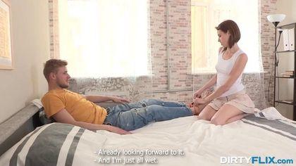 Связанный парень плачет из-за секс-измены его девушки с другом #2