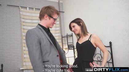 Ботан в очках получил горловой минет от развратной любовницы #3